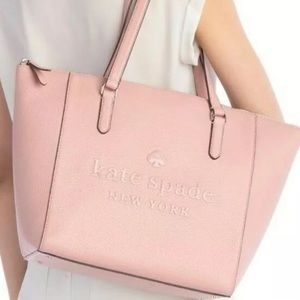 Kate Spade Large Leather Tote Sienne Logo Rose